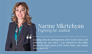 She was featured in the Attorney at Law Magazine